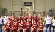 البطولة العربية للناشئين في كرة السلة فوز كبير للبنان على تونس