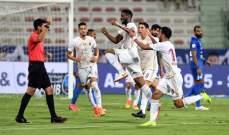 الشارقة يستعيد صدارة الدوري الاماراتي والنصر يتعادل مع الوحدة