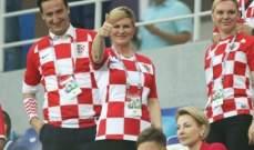 رئيسة كرواتيا لن تتابع لقاء نصف النهائي امام انكلترا