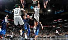 NBA:  سقوط جديد للواريرز وسان انطونيو يعزز مركزه غربياً