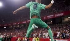 علامات لاعبي مباراة ريال مدريد وأشبيلية