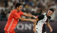 بوفون يهنىء رونالدو ويحثه على تخطي بيليه