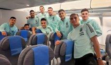 بعثة منتخب الأرجنتين تعود إلى بلادها