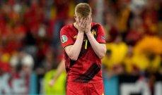 دي بروين: عانيت من اصابة في مباراة ايطاليا