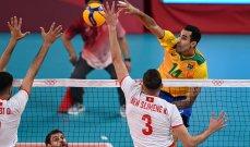 طوكيو 2020: البرازيل تتخطى تونس بسهولة في الكرة الطائرة وفوز ايطاليا بصعوبة