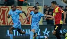 الدوري التركي الممتاز: انتصار طرابزون سبور ورايزي سبور