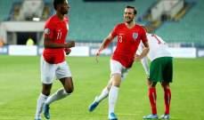 علامات لاعبي مباراة انكلترا - بلغاريا