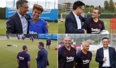 بارتوميو يزور تدريبات برشلونة