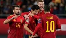 اسبانيا تحافظ على سجلها بدون هزائم بعد 27 مباراة في التصفيات