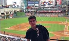 مارك ماركيز يشاهد مباراة بايسبول