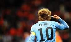 فورلان يكشف عن رأيه بانتقال كافاني لاتلتيكو مدريد