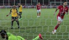 الدوري المصري: الأهلي يحقق فوزا صعبا على متذيل الترتيب الانتاج الحربي