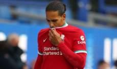 بارنز: غياب فان دايك أثّر نفسيا على فريق ليفربول