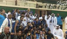 فريق النصر يعانق كاس الامارات لكرة السلة
