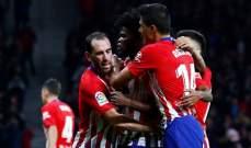 غودين يمنح اتلتيكو مدريد فوزاً قاتلاً امام اتلتيك بلباو في الدقيقة الاخيرة