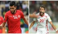 غياب ثنائي المنتخب التونسي الشعلالي وبن عمر عن مواجهة مصر