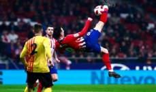 اتلتيكو مدريد يكتسح سانت اندرو ويرافق جيرونا الى ثمن نهائي كأس ملك اسبانيا