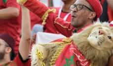 الجماهير المغربية تزين مدرجات ملعب السلام في القاهرة