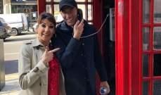 زين الدين زيدان في لندن مع زوجته