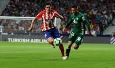 الليغا : اتلتيكو مدريد يشعل المنافسة على مركز الوصافة بتعادله السلبي امام ريال بيتيس