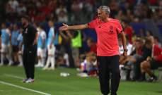 مورينيو يشكو غياب معظم اللاعبين الاساسيين عن الفريق