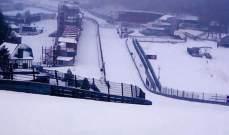 حلبة بلجيكا تحت الثلج
