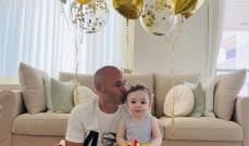 انييستا يحتفل بعيد ميلاد نجله
