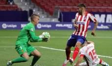 رينا يتحمل مسؤولية الهدف الثاني امام اتلتيكو واوبلاك لعب دور المتابع خلال المباراة