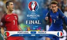 رسميا: تشكيلات فرنسا والبرتغال في نهائي اليورو