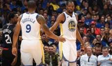 NBA : غولدن ستايت يفوز و50 نقطة لدورانت