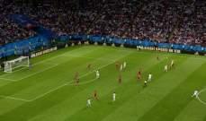 انتهاء الشوط الاول بين اسبانيا وايران بالتعادل السلبي