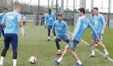 برشلونة يعود للتدريبات استعداداً للقاء ليفانتي