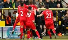 ليفربول يحقّق فوزاً هيستيرياً وجنونياً على نورويتش
