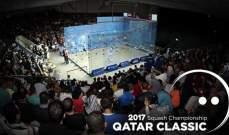 نهائي مصري خالص في بطولة قطر كلاسيك للاسكواش