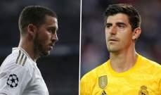 كورتوا: هازارد سيتألق مع مدريد في نهاية المطاف