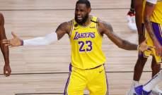 NBA: ليكرز يفوز في المباراة الرابعة على هيت ويقترب من تحقيق اللقب