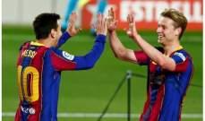 ارقام واحصاءات بعد مباراة برشلونة وخيتافي