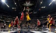 NBA: انديانا وفيلادلفيا يلتحقان بالفرق المتاهلة لنهائيات المجموعة الشرقية