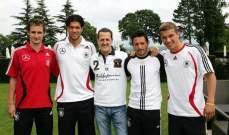 مايكل شوماخر مع أعمدة المنتخب الألماني