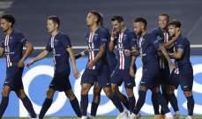 ارقام واحصاءات من مباراة باريس سان جيرمان ولايبزيغ في دوري الابطال