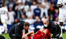 اصابة مروّعة يتعرض لها لاعب ليفربول