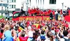 استقبال ملكي وشعبي لمنتخب بلجيكا