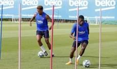 تدريبات برشلونة تشهد عودة دي يونغ وميسي يواصل التعافي
