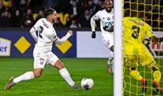 ليون يقصي نانت من كأس فرنسا في مباراة ماراتونية