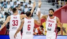 كندا تقسو على الاردن وتمنعه من تسجيل اول فوز في كاس العالم للسلة 2019