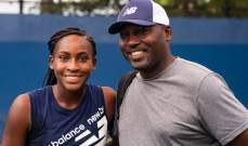 اختيار والد ومدرب لاعبة التنس المراهقة كوكو غوف كمدرب العام