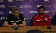 مدرب منتخب لبنان: كنا الأفضل والأكثر تنظيماً وغداً يوم آخر