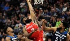 NBA PLAOFFS: هيوستن على بعد خطوة من حسم السلسلة