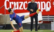 موجز الصباح: سقوط أتلتيكو مدريد يشعل الصراع على اللقب في الليغا، اليونايتد يقلب الطاولة على برايتون وهوركاش بطل بطولة ميامي
