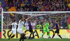 قرارات موفقة لحكم مباراة برشلونة وفالنسيا في نهائي كأس الملك